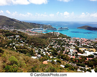 View of St Thomas Harbour - Spectacular view of St Thomas...