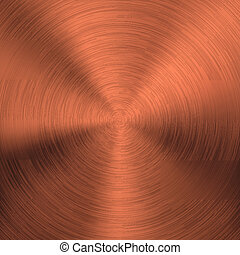 Bronze Metal Background with Circular Texture - Bronze metal...