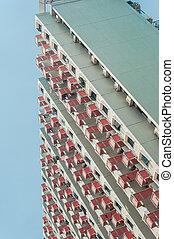 High Rise apartment (condominium) and HDB building in a...