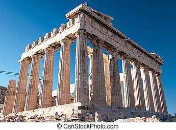 Parthenon in Acropolis - The building of Parthenon in...