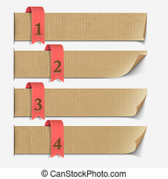 Paper numbered banners, design for infographics. Vector...