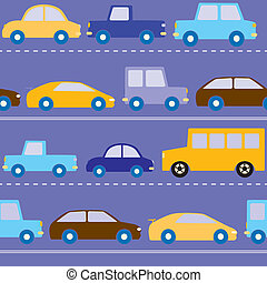 Cars on the road pattern