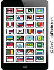 set of nation flag