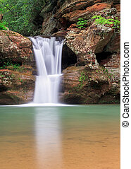 Old Mans Cave Upper Falls - The beautiful Upper Falls, a...