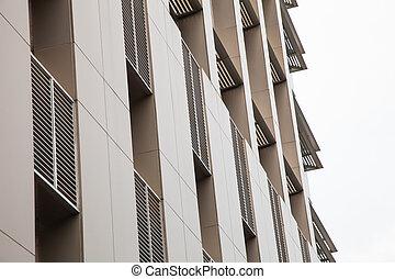 aluminum office building