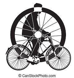 bicycle wheel art vector isolate on white