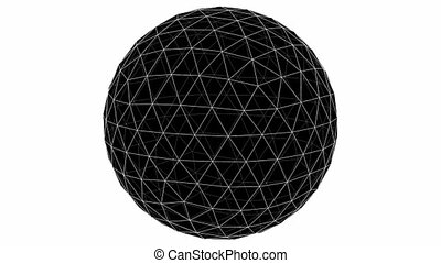 From Icosahedron To The Ball Sphere Lines Animation