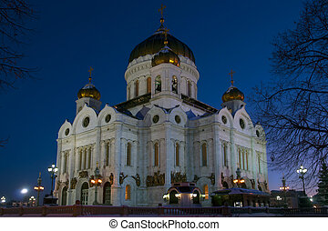 THE CATHEDRAL OF CHRIST THE SAVIOR. MOSCOW.