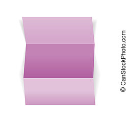 piece of violet paper - The blank violet piece of paper,...