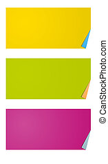 blank rectangle labels