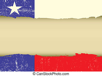 Solitaire, étoile, drapeau, gratté, drapeau