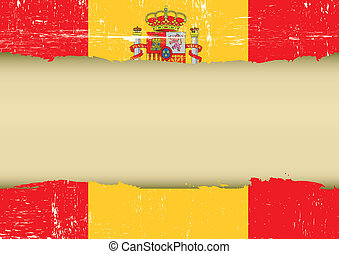 Spain scratched flag - A spanish flag with a large frame for...