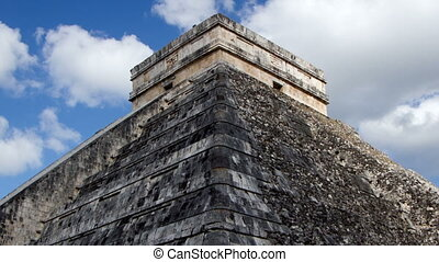 timelapse of the mayan ruins at chichen itza, mexico the...