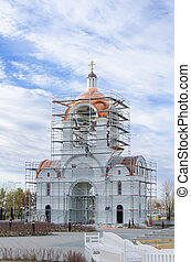 Orthodox church under construction