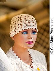 beanie - knitted white beanie