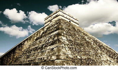 timelapse of the mayan ruins of chichen itza, mexico the...