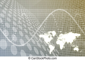 Global Business Abstract Background - A Global Business...