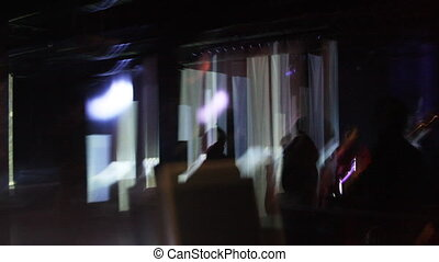 abstract scene from night club