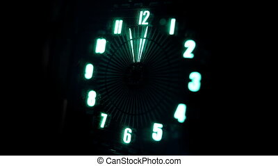 led clock face lit up blue
