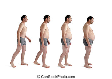 man making incremental weight gain