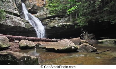 Cedar Falls Loop - Ohio Waterfall - Seamless loop features...