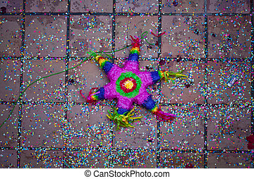 pinata lying on the ground