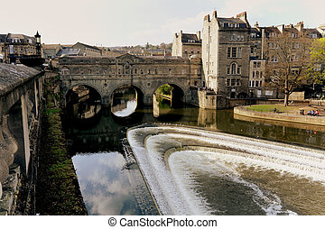 Historic Bath - The heart of the ancient city of Bath, with...