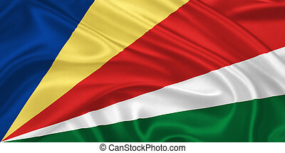 Flag of the Seychelles - Flag of Seychelles waving with...