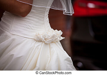 bridal gown - detail of a bridal gown