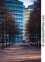 Berlin Potsdamer Platz - Buildings at Potsdamer Platz,...