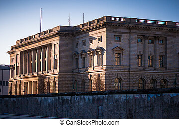 Berlin Bundesrat - Back view of the Bundesrat building with...
