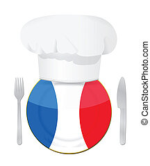French cuisine concept illustration