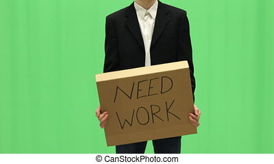 Young Businessman Needs Work - Young Businessman with Need...