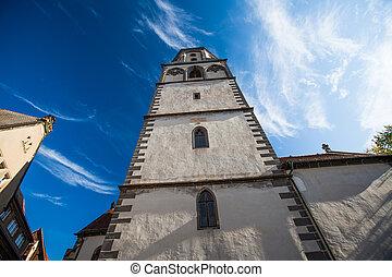 steeple of the Frauenkirche in Meissen, Saxony