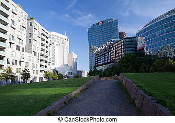 Potsdamer Platz - the German Railway Tower at Potsdamer...