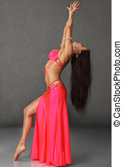 Beautiful belly dancer woman - Beautiful exotic belly dancer...