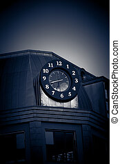 turret clock - black turret clock