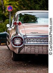 Cadillac - detail of a pink Cadillac