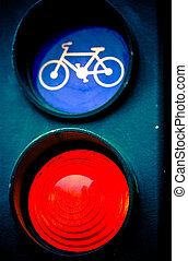 red traffic light for cyclists