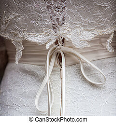 wedding gown - back detail of a wedding gown