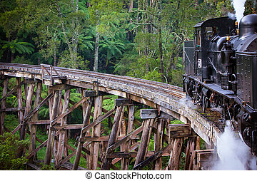 Puffing Billy Train - Puffing Billy steam train travels...