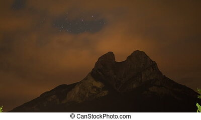 a night time star timelapse of the beautiful pedra forca...