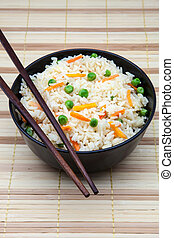 rice bowl with vegetables