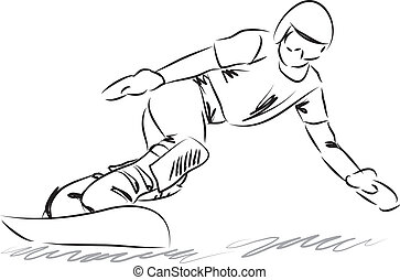 snowboarding illustration