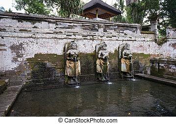 Sacred pool in Goa Gajah temple