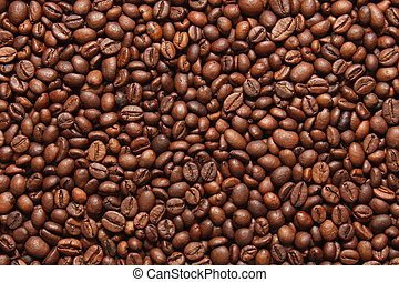 coffee - large quantities of coffee beans forming background