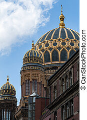 synagogue - dome of the synagogue in Berlin