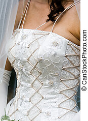 wedding gown - corsetted wedding gown