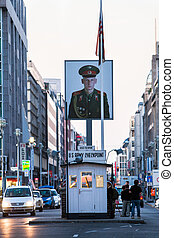 Checkpoint Charlie - former US Army checkpoint in Berlin