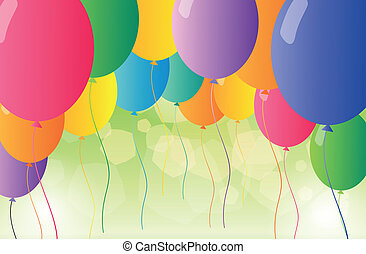 A set of colorful balloons